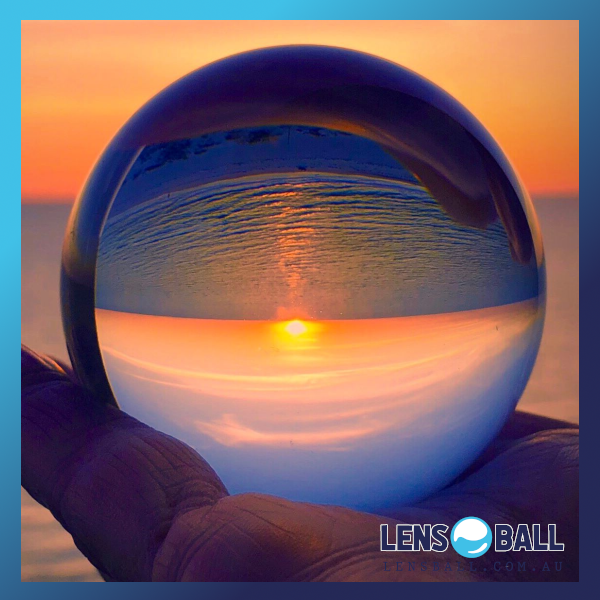 Lensball Hand Sunset