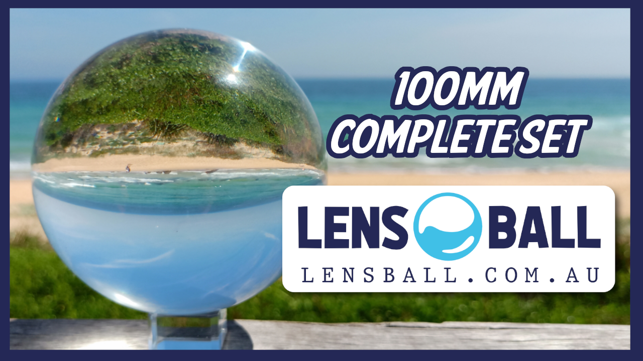 100mm Lensball Australia with Crystal Display Stand